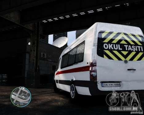 Volkswagen Crafter Turkish Schoolbus para GTA 4 vista direita