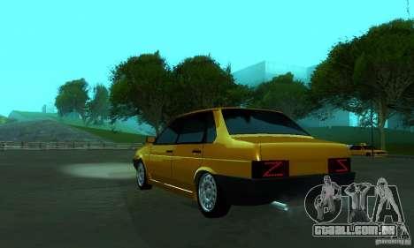 PROTOCOLO VAZ 21099 para GTA San Andreas esquerda vista