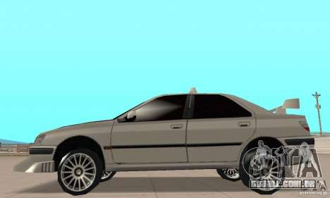 Peugeot 406 TAXI para GTA San Andreas traseira esquerda vista