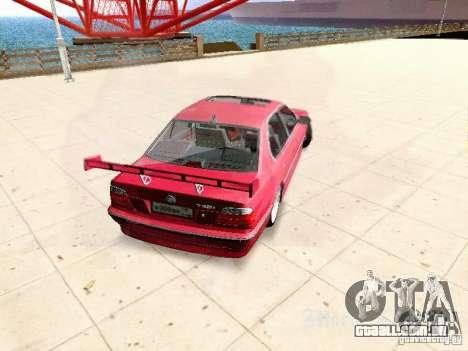 BMW 740i Tuned For Drift para GTA San Andreas traseira esquerda vista