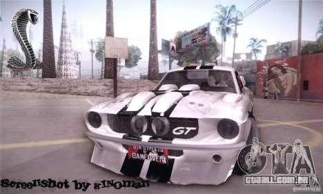 Shelby GT500 para GTA San Andreas