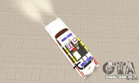 Ghostbusters ECTO 1 para GTA San Andreas traseira esquerda vista