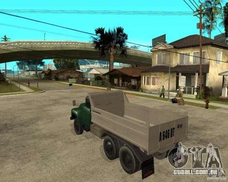 Caminhão ZIL 133 para GTA San Andreas esquerda vista