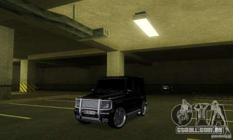 Mercedes Benz G500 ART FBI para GTA San Andreas esquerda vista