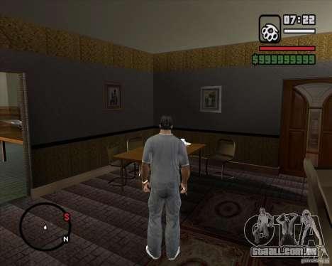 Substituindo o CJeâ casa toda para GTA San Andreas nono tela