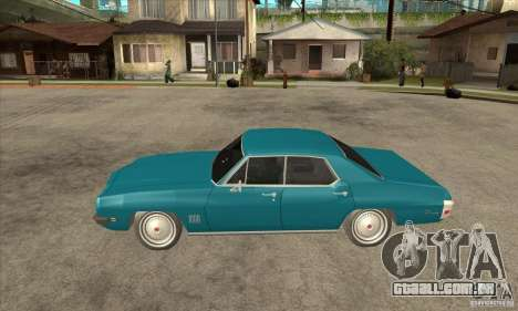 Pontiac LeMans para GTA San Andreas esquerda vista