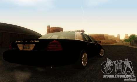 Ford Crown Victoria Wyoming Police para GTA San Andreas esquerda vista