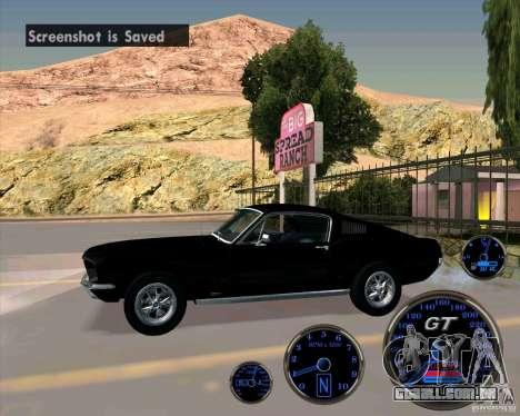 Ford Mustang Fastback para GTA San Andreas esquerda vista