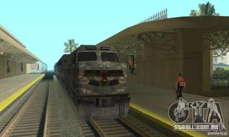 Trem de Camo para GTA San Andreas esquerda vista