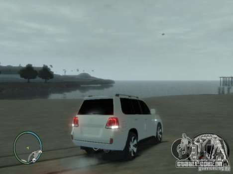 Toyota Land Cruiser 200 FINAL para GTA 4 vista interior