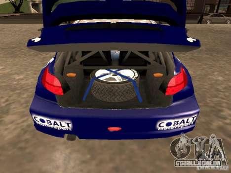 Peugeot 206 WRC de Richard Burns Rally para GTA San Andreas vista traseira