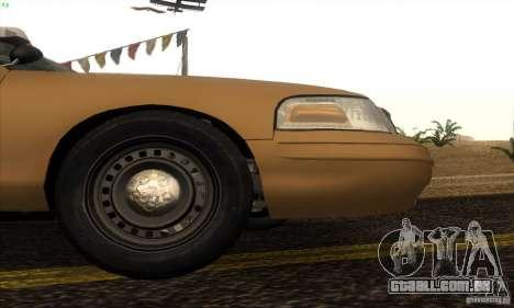 Ford Crown Victoria Kansas Police para GTA San Andreas traseira esquerda vista