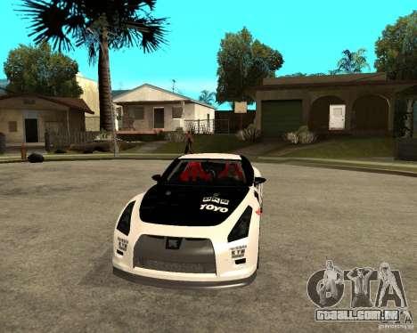 Nissan Skyline R35 para GTA San Andreas vista traseira