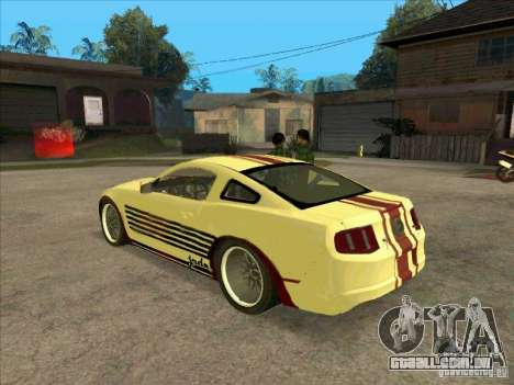 Ford Mustang Jade from NFS WM para GTA San Andreas traseira esquerda vista