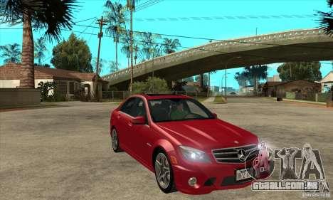 Mercedes-Benz C63 AMG 2010 para o motor de GTA San Andreas