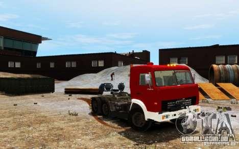 KAMAZ 54115 para GTA 4 vista de volta