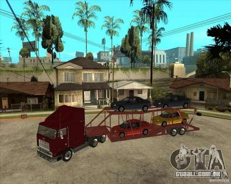 Caminhão semi-reboque para GTA San Andreas vista traseira