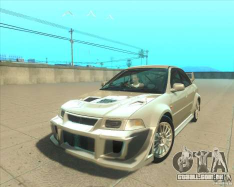 Mitsubishi Lancer Evolution VI 1999 Tunable para GTA San Andreas interior