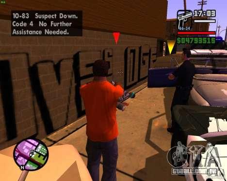 Perseguindo máquinas para GTA San Andreas quinto tela