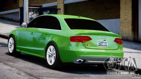 Audi S4 2010 v1.0 para GTA 4 traseira esquerda vista