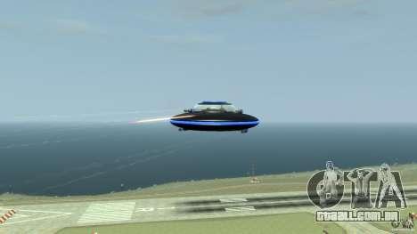 UFO neon ufo blue para GTA 4 vista de volta
