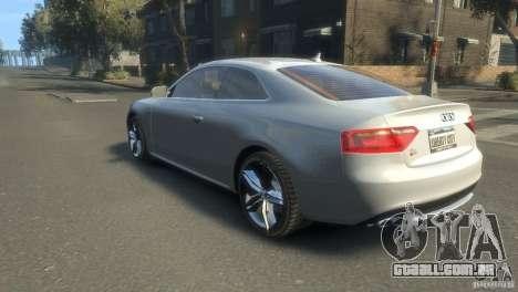 Audi S5 1.1 para GTA 4 esquerda vista