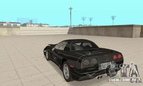 Chevrolet Corvette 5 para GTA San Andreas vista superior