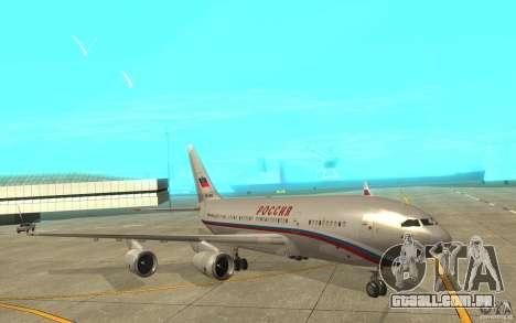 A IL-96 300 STC Rússia para GTA San Andreas esquerda vista