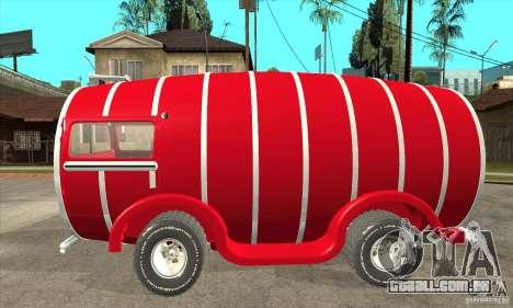 Beer Barrel Truck para GTA San Andreas esquerda vista
