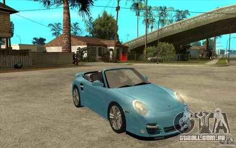 Porsche 911 Cabriolet 2010 para GTA San Andreas vista traseira