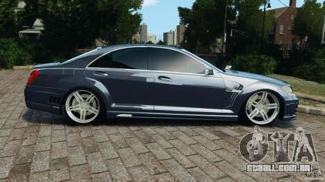Mercedes-Benz S W221 Wald Black Bison Edition para GTA 4 esquerda vista