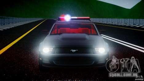 Ford Mustang V6 2010 Police v1.0 para GTA 4 motor