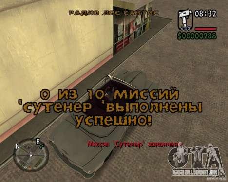 NewFontsSA 2012 para GTA San Andreas nono tela