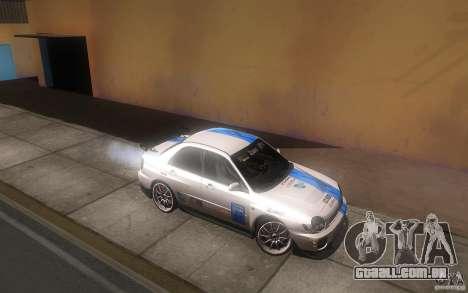 Subaru Impreza WRX STi para GTA San Andreas vista superior
