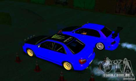 Subaru Impreza WRX Rally para GTA San Andreas vista interior