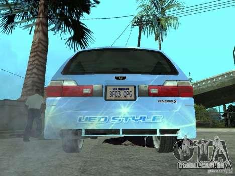 Nissan Stagea 25RS four S para GTA San Andreas traseira esquerda vista
