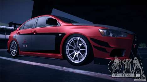 Mitsubishi Lancer Evolution X Tunable para GTA San Andreas vista interior