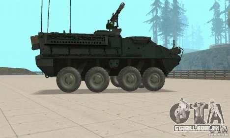 Stryker para GTA San Andreas traseira esquerda vista