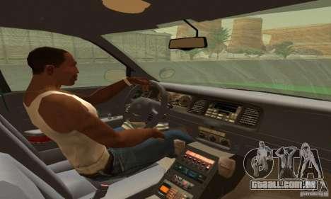 Ford Crown Victoria Vermont Police para GTA San Andreas traseira esquerda vista