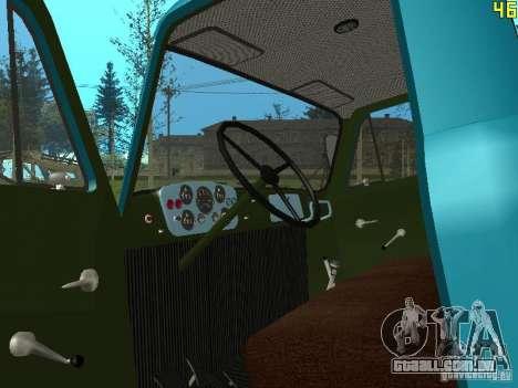 Gaz-53 ballonovoz para GTA San Andreas vista interior