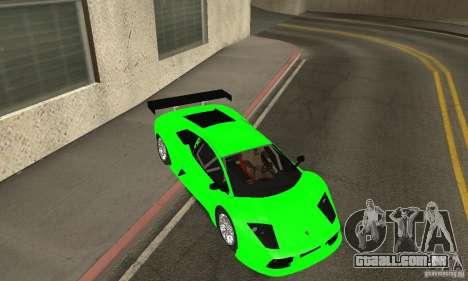 Lamborghini Murcielago R GT para GTA San Andreas vista inferior