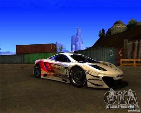 McLaren MP4 - SpeedHunters Edition para GTA San Andreas esquerda vista
