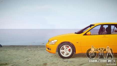 Toyota Altezza Gita Version 2 para GTA 4 vista de volta
