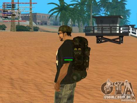 Military backpack para GTA San Andreas