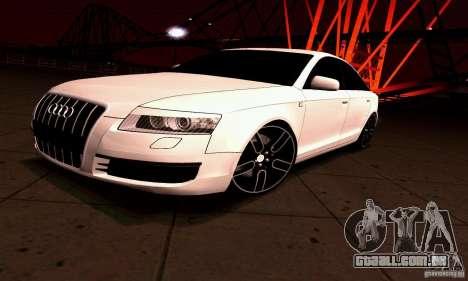 Audi A6 Blackstar para GTA San Andreas traseira esquerda vista