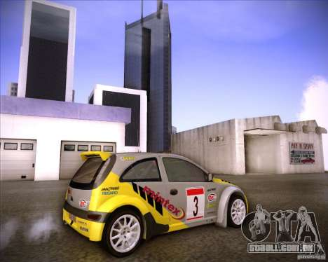 Opel Corsa Super 1600 para vista lateral GTA San Andreas