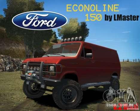 Ford Econoline 150 para GTA 4 vista de volta