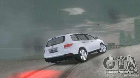 Toyota Highlander 2012 v2.0 para GTA 4 vista direita