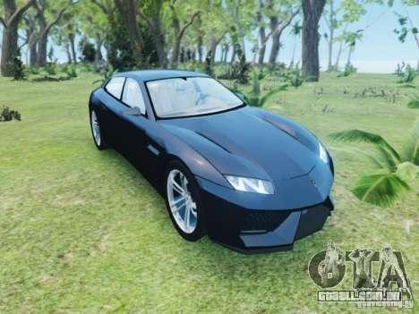 Lamborghini Estoque para GTA 4 vista de volta