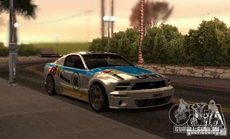 Ford Mustang GT-R para GTA San Andreas vista superior